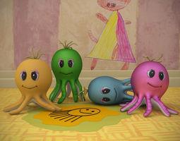 Toy octopus 3D Model