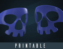 Printable Halloween Skull Mask