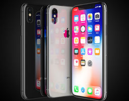 3D Apple iPhone X All colors
