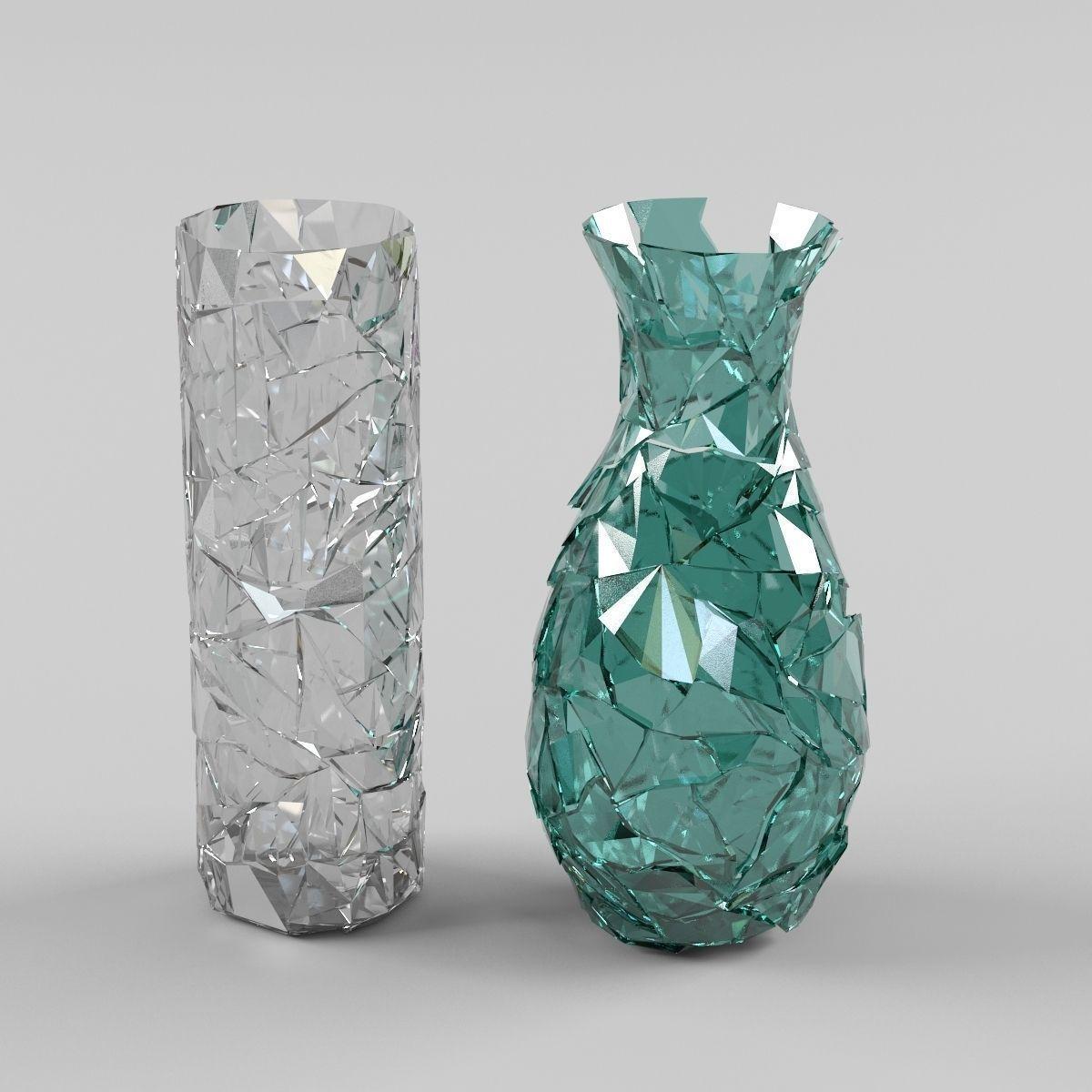 Broken Vases 3d Model Fbx Cgtrader Com