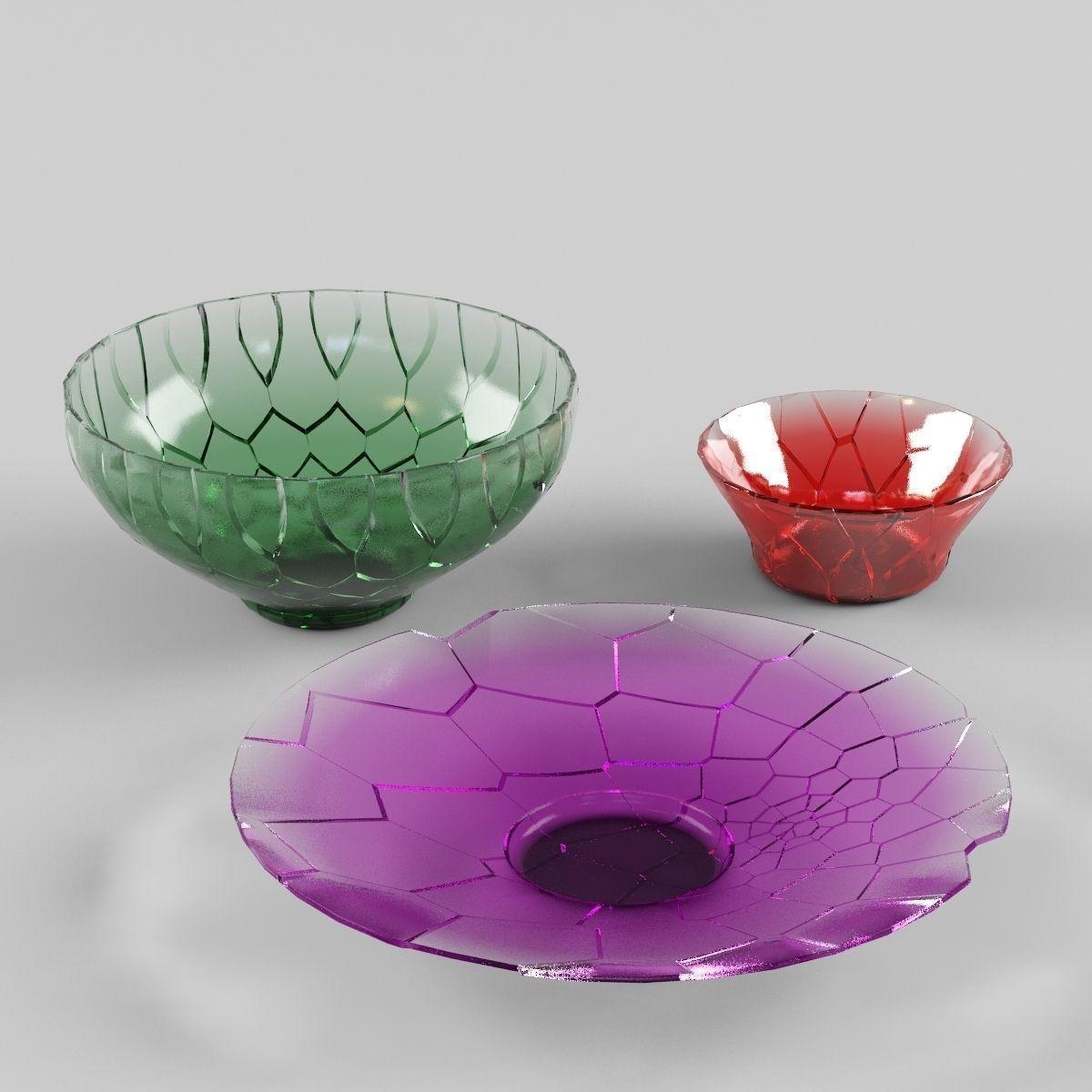 Broken Vases 3D Model .fbx