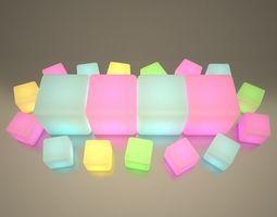 Illuminated Cubes 3D model