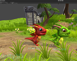 animated 3DRT - Toon Dragon