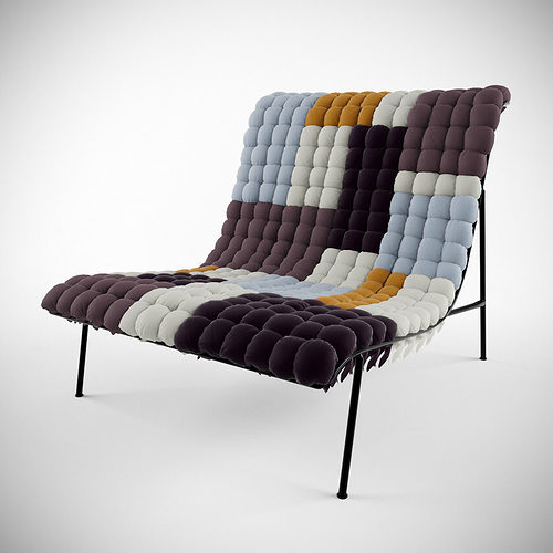 Mosaiik Lounge Chair 3d Model Max Obj Fbx Mtl Mat 1 ...