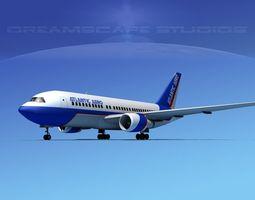 Boeing 767-200ER Atlantic Aero 3D model