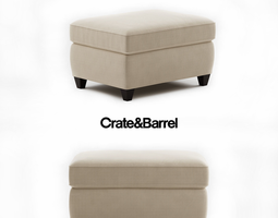 3D model Crate and Barrel Dryden Ottoman