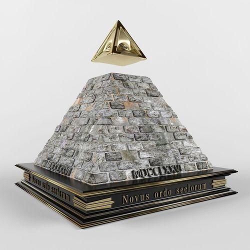 Illuminati pyramid3D model