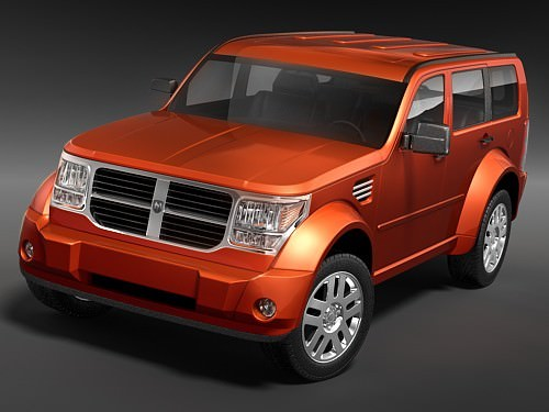 dodge nitro 2006 3d model max 3ds. Black Bedroom Furniture Sets. Home Design Ideas