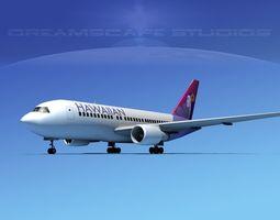 Boeing 767-200ER Hawaiian 3D model