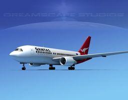 Boeing 767-200ER Qantas 3D model