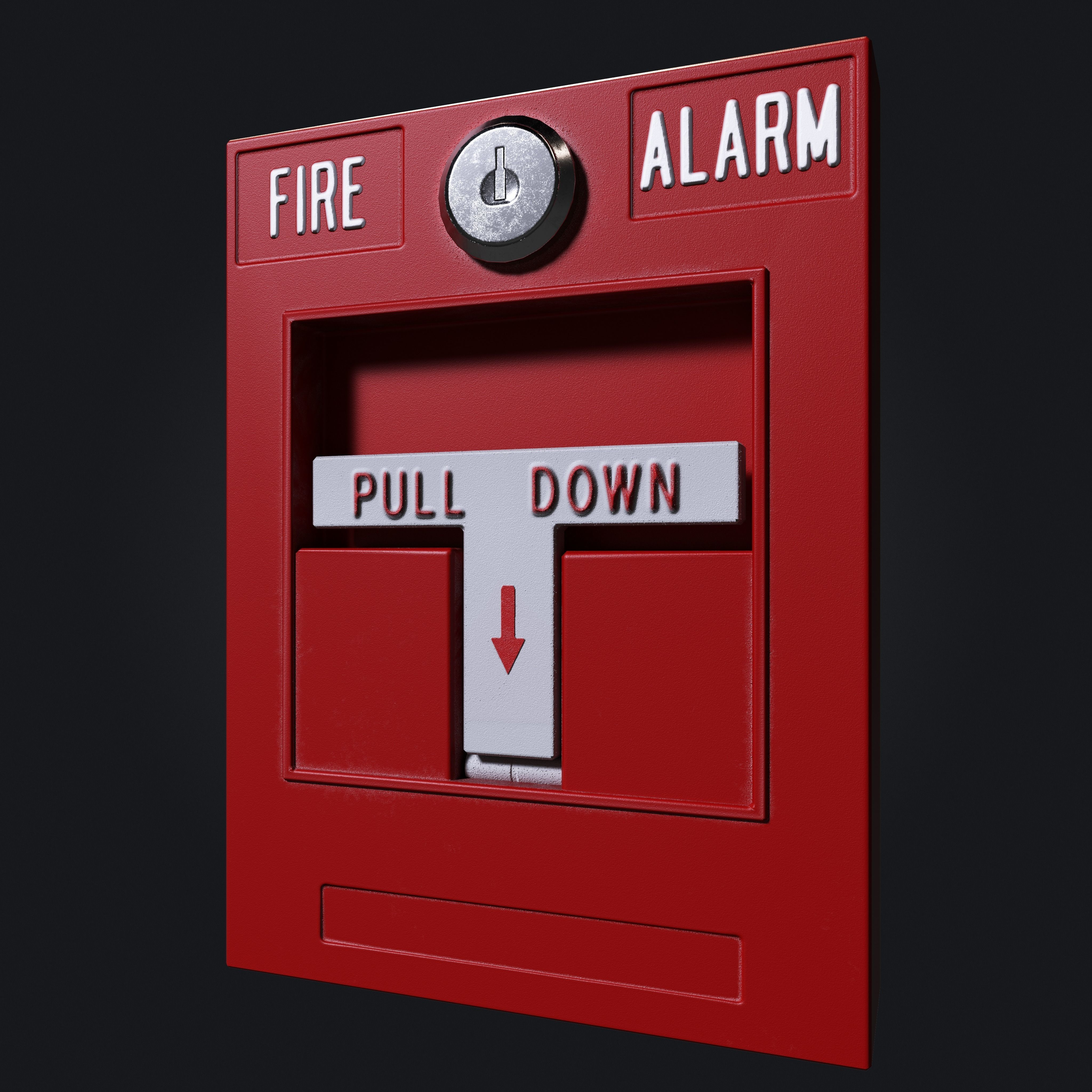 3d Model Interior Fire Alarm Cgtrader Low Poly Fbx 2
