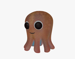 3D asset Cartoon octopus
