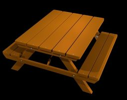 models 3D model Picnic Table