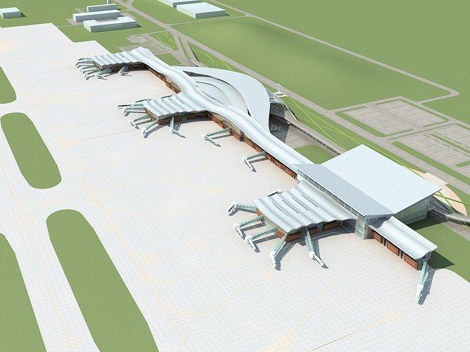 airport 01 3d model max obj fbx 1