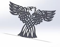 celtic bald eagle 3d printable model