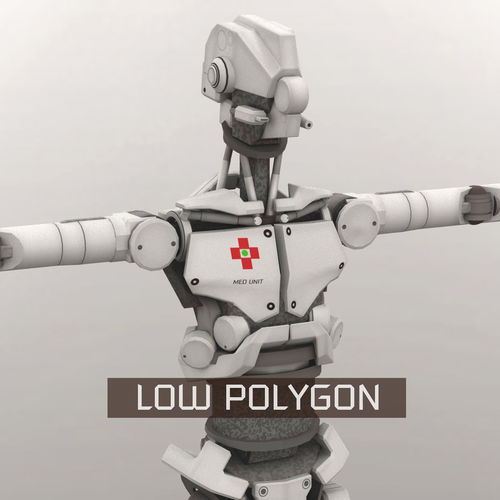 med bot lp 3d model low-poly obj mtl fbx ma mb tga 1