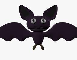 Cartoon bat flying 3D asset