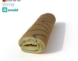 3D model Roll Cake