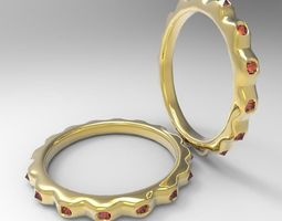Jeweled Ring 3D Model