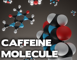 Caffeine molecule 3D printable model