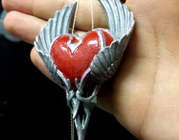 heart pendant 3d printable model