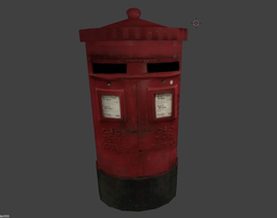 3D model London Postbox low poly
