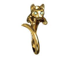 3d print model ring cat