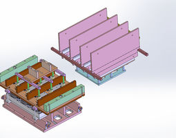 Thermoform plate mold - 4 plate models 3D