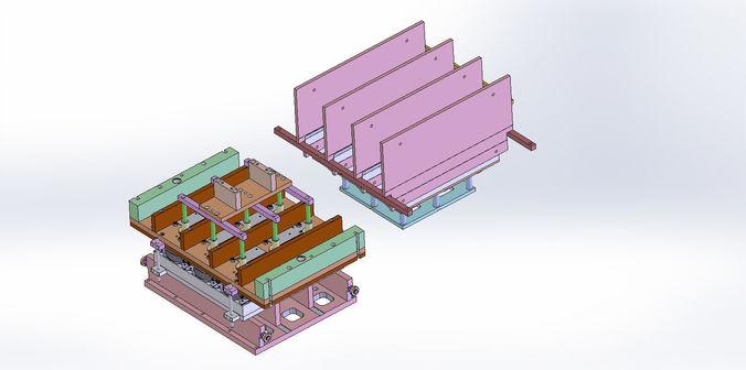 thermoform plate mold - 4 plate models 3d model sldprt sldasm slddrw 1