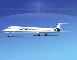 McDonnell Douglas MD83 Liberty Jet 3D model