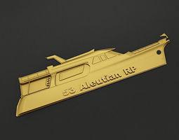 3D print model Yacht Key chain 1