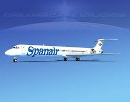 3D model McDonnell Douglas MD83 Spanair