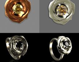 3D print model Ring Flower rings