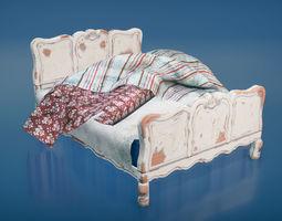 3D asset Vintage bed
