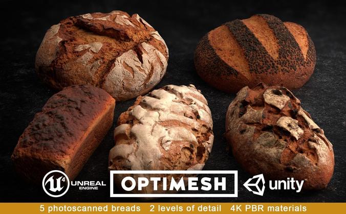 Bread 3D PBR Pack