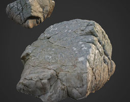 3d scanned nature stone 025 low-poly