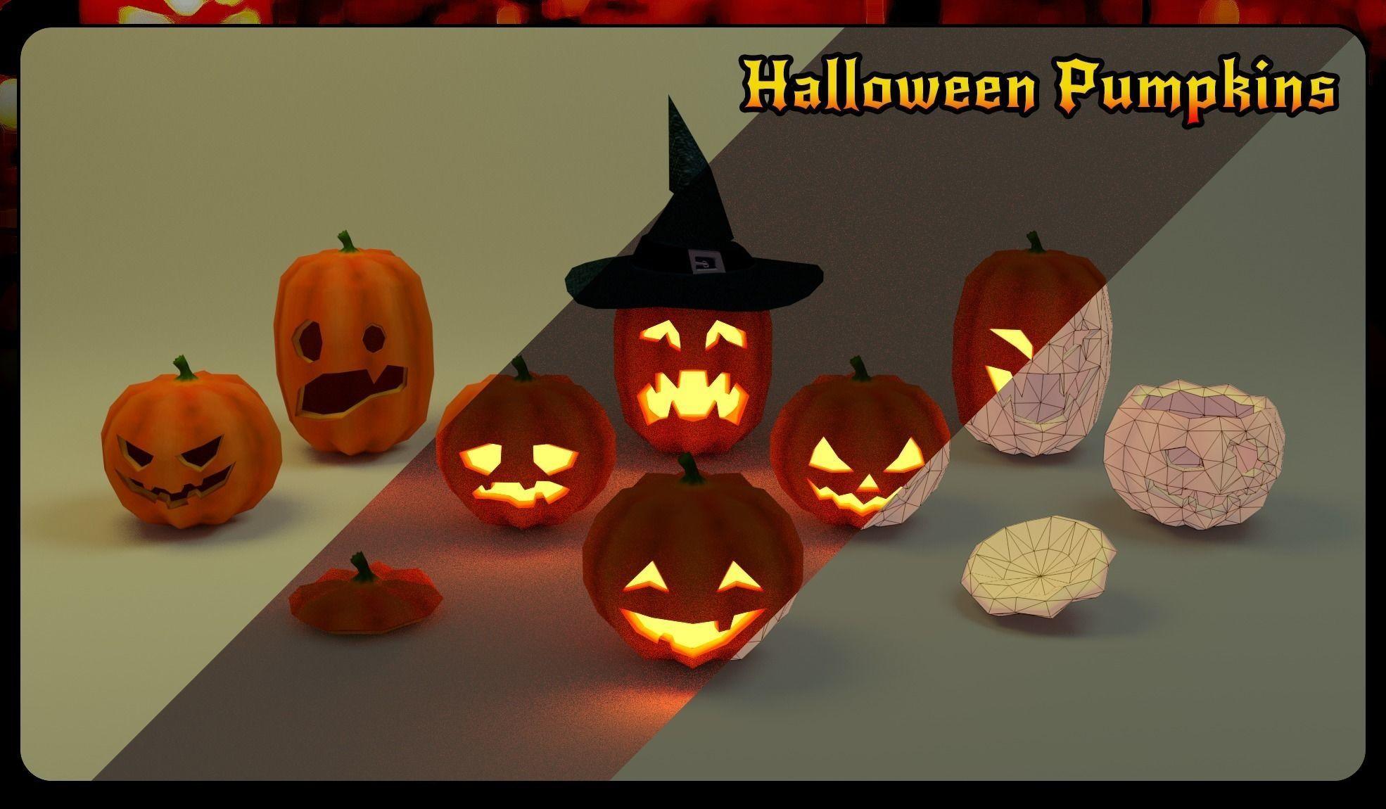 Halloween pumpkins pack