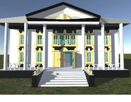 VR / AR ready Villa Catherine on an Island for 3D games