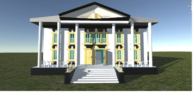 villa catherine on an island for 3d games 3d model low-poly fbx 1