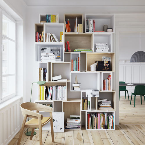 muuto stacked bookshelf set 3d model max fbx tga 1