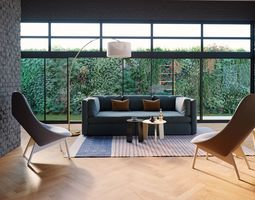 HAY Hackney Carriage Sofa Set-Maxtree 3D