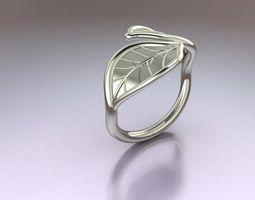 3D printable model Leaf Ring rings
