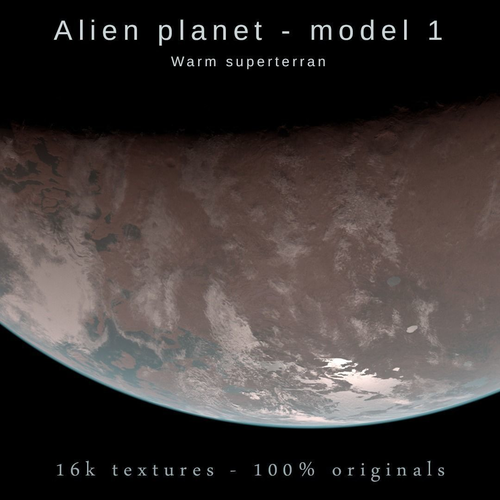 alien planet model 1 - 16k photorealistic -warm superterran 3d model max obj mtl blend 1