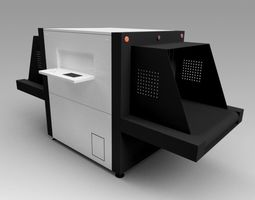 ray 3D model Baggage X-Ray Scanner