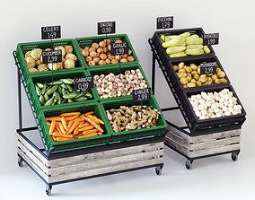 Vegetable display racks 3D