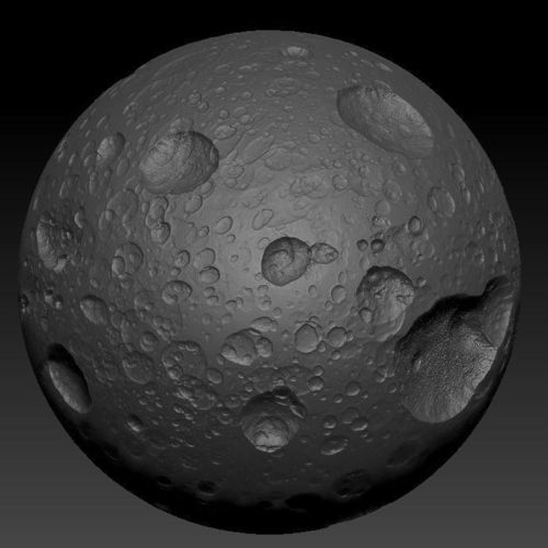 Car Trader Online >> 3D model Highly Detailed Planet or Moon with Big Craters ...