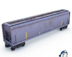 3D model low-poly Hopper Car