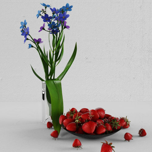 forget-me-nots  3d model max fbx 1
