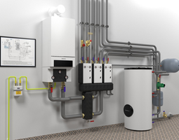 3D model Boiler room with Buderus GB162-70