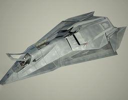 stealth talon 3d model animated
